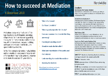 How to Succeeed in Mediation